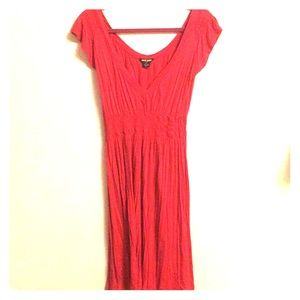 Red Casual Cotton Dress